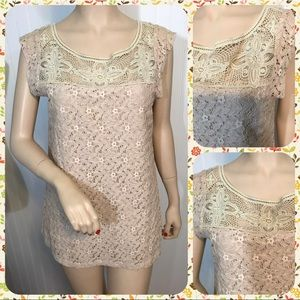 Sanctuary Clothing Vintage Lace Tunic Top